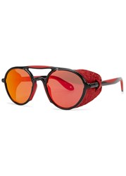 Givenchy Red Mirrored Round Frame Sunglasess