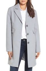Kenneth Cole Women's New York Single Breasted Trench Coat Light Grey