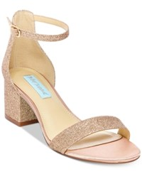 Blue By Betsey Johnson Miri Evening Sandals A Macy's Exclusive Style Women's Shoes Rose Gold