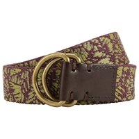 John Lewis And Co. Tropical Canvas Belt Brown