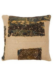 By Walid 17Th Century Flemish Tapestry Cushion Cream Print