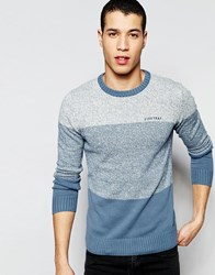 Firetrap Stripe Knitted Jumper Blue