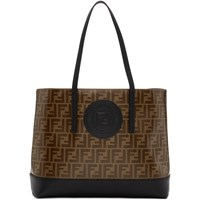 Brown And Black 'Forever Fendi' Shopper Tote