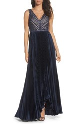Adrianna Papell Women's Mixed Media Gown