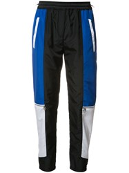 Versace Colour Block Paneled Track Pants Black