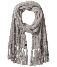 Tommy Hilfiger Chunky Beaded Border Scarf Silver Scarves