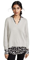Brochu Walker V Neck Layered Sweater Light Chia Printed