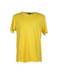 Surface To Air Topwear T Shirts Men Yellow