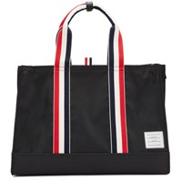 Thom Browne Black Zip Top East West Tote