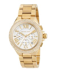 Michael Michael Kors 43Mm Camille Glitz Chronograph Bracelet Watch Golden
