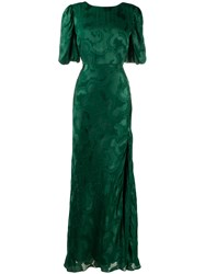 Saloni Embroidered Gown Green