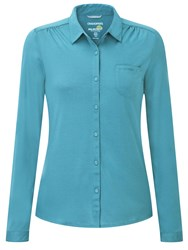 Craghoppers Kaile Long Sleeved Shirt Blue