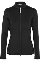 Adidas By Stella Mccartney The Midlayer Climalite Stretch Jersey Jacket Black