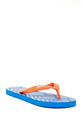 Puma Patterned Footbed Flip Flop Blue