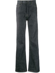 Rick Owens Drkshdw Straight Leg Denim Trousers Blue