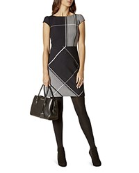 Karen Millen Check Dress Navy