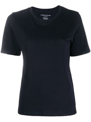 Majestic Filatures Plain Knitted T Shirt Blue