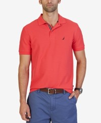 Nautica Men's Classic Fit Performance Polo Rose Coral