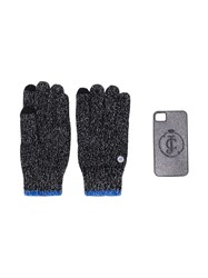 Juicy Couture Glittered Gloves And Iphone 4 Case Black