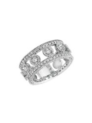 Morris And David 14K White Gold Diamond Band Ring 0.93 Tcw