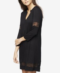 A Pea In The Pod Maternity Lace Trim Nightgown Black