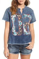 True Religion Women's Brand Jeans Embroidered Tee