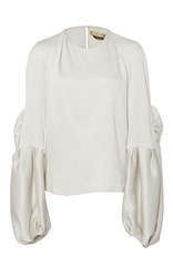 Hellessy Sage Butterfly Sleeve Blouse White