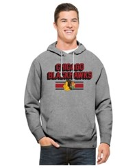 47 Brand '47 Men's Chicago Blackhawks Expansion Strike Pullover Hoodie Gray