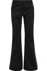 Red Valentino Redvalentino Woman Striped Jersey Track Pants Black