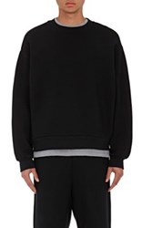 Alexander Wang T By Men's Fleece Oversized Sweatshirt Black