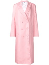 Helmut Lang Double Breasted Coat Pink And Purple
