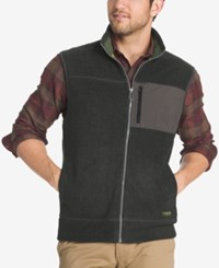G.H. Bass And Co. Men's Zip Up Vest Black