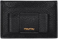 Miu Miu Black Bow Card Holder
