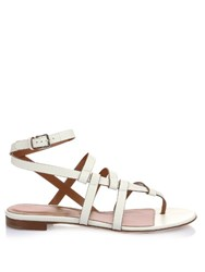 Sergio Rossi Capri T Bar Sandals White