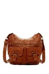 T Shirt And Jeans Washed Scoop Hobo Brown