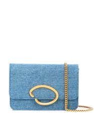 Oscar De La Renta Denim Shoulder Bag 60