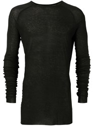 Haider Ackermann Long Sleeved T Shirt With Round Neck Black