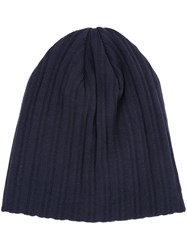 Estnation Ribbed Beanie Men Cotton One Size Blue
