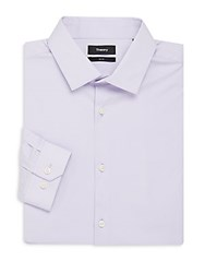 Theory Dover Slim Fit Cotton Dress Shirt Light Purple