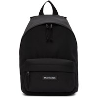 Balenciaga Black Nylon Small Explorer Backpack