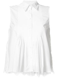Sea Sleeveless Shirt White