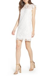 Cupcakes And Cashmere Floral Lace Shift Dress White