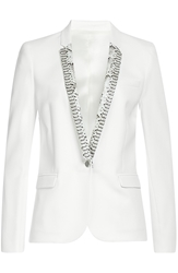 The Kooples Kate Crepe Blazer With Leather