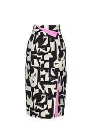 Roksanda Ilincic Bahari Print Linen And Cotton Blend Skirt
