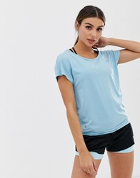 Only Play Loose Yoga Tee Blue