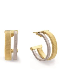 Marco Bicego Masai Yellow And White Gold Hoop Earrings Female Yellow Gold