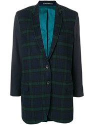 Paul Smith Ps By Checked Tailored Blazer Blue