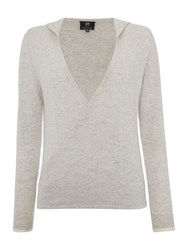 Pepper And Mayne The Royal Ballet Cashmere Hooded Wrap Grey