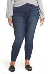 Good American Plus Size Legs Ripped High Waist Skinny Jeans Blue 114