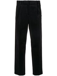 Paul Smith Ps By Cropped Tailored Trousers Cotton Spandex Elastane Viscose Pink Purple